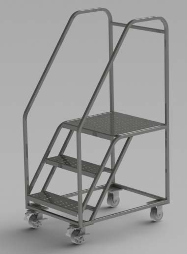 Wheeled Step Ladder