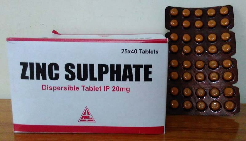 Zinc Sulphate 20 Mg Tablets Zinc Sulphate Tablets Exporters