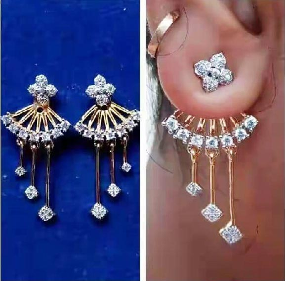 Gold Diamond Ear Studs