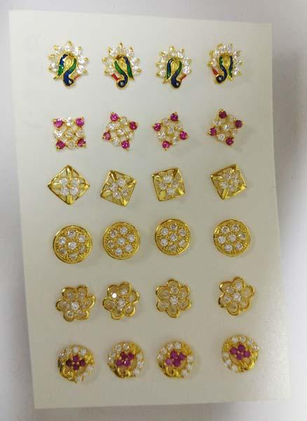 Gold Diamond Nose Pins
