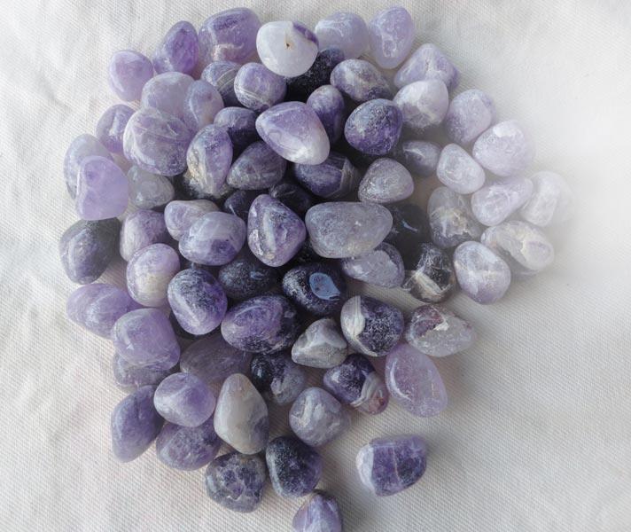Agate Amethyst Tumbled Stones