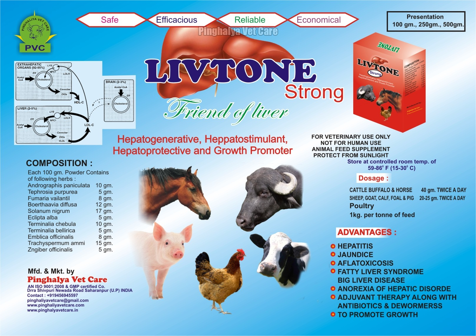Livtone Strong Powder Feed Supplement