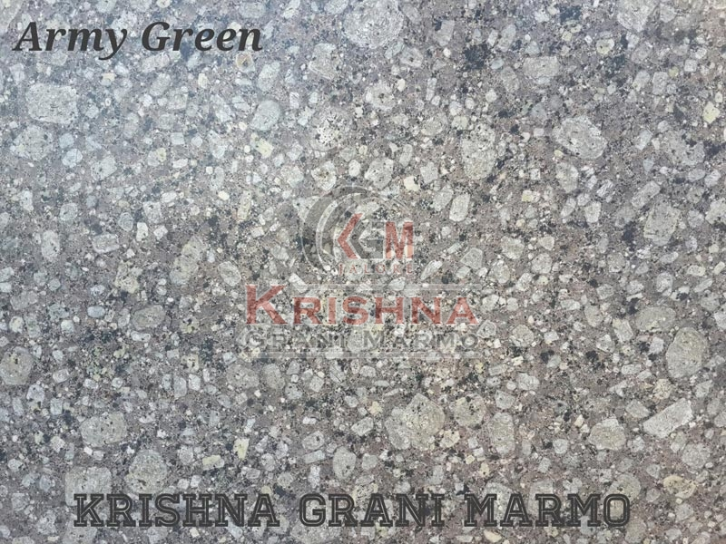 Army Green Granite Stone