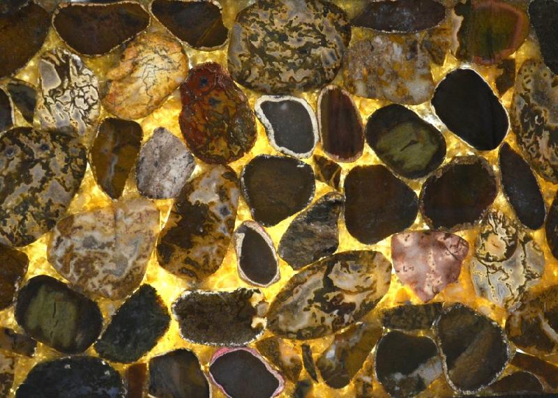Close Agate Stones Slab