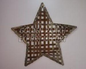 Handmade Recycled Metal Strip Star