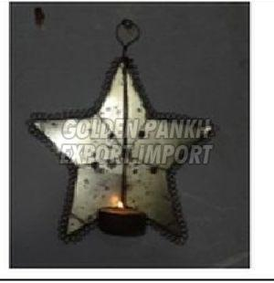 Handmade Wirework Star Tea Light Candle