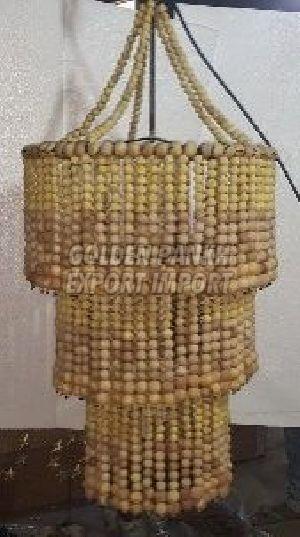 Handmade Wooden Beaded Chandelier