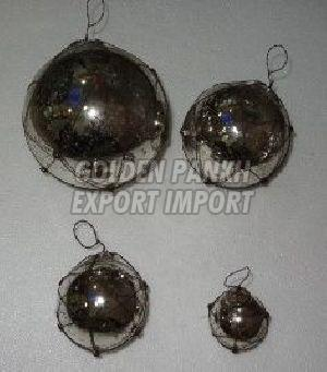 Wirework Mercury Glass Ornament