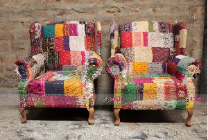 COLORFUL PATCHWORK INDIAN SOFA
