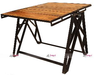 INDUSTRIAL FOLDABLE DINING TABLE