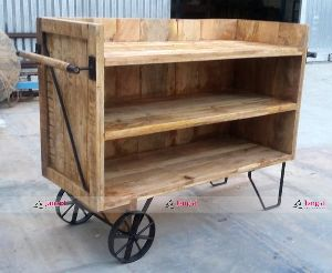 INDUSTRIAL IRON BAR CABINET