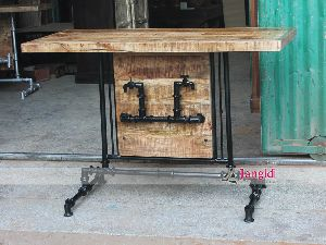 INDUSTRIAL STEAMPUNK CONSOLE TABLE