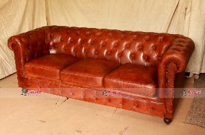 LEATHER INDUSTRIAL SOFA