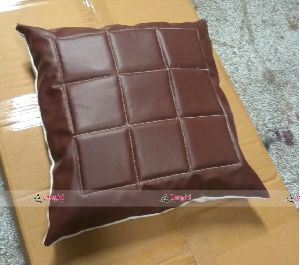 PU LEATHER CANVAS PILLOW