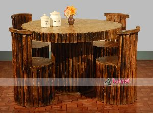 RECLAIMED OUTDOOR WOODEN DINING TABLE SETS