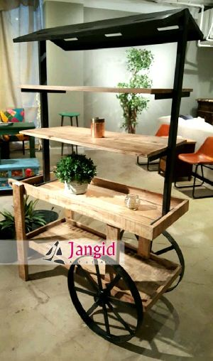 VINTAGE INDUSTRIAL CART TABLE MANUFACTURER