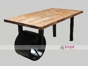 VINTAGE INDUSTRIAL DINING TABLE DESIGN