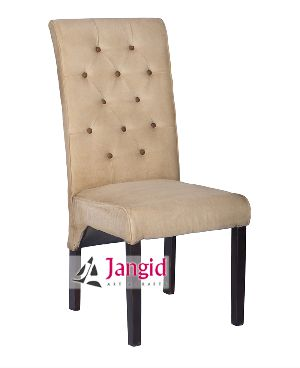 WOODEN CANVAS UPHOLSTERY DINING CHAIR
