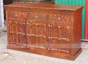 WOODEN CARVED SIDEBOARD INDIA