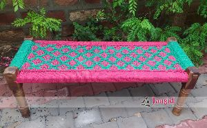 WOODEN COLORFUL TRADITIONAL CHINDI BED