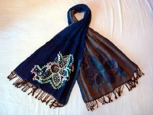 Wool Embroidered Stoles EC-2076 A