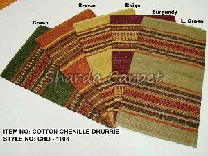Cotton Chenille Dhurries 03