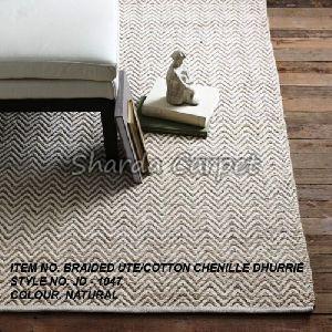 Cotton Chenille Jute Dhurries