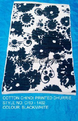 Cotton Chindi Printed Dhurries 02