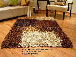 Leather Shaggy Rugs 02