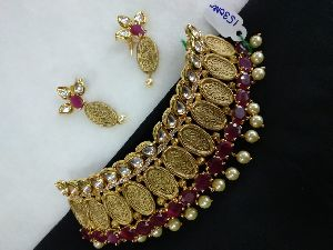Gold Necklaces Set 07