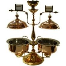 Twin Copper Chafing Dish