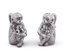 Aluminum Monkey Salt and Pepper
