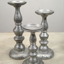 Aluminum Pillar Candle Holder