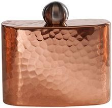 Copper Hammered Hip Flask