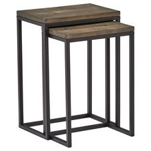 Metal Iron Tables with Wooden Top
