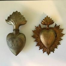 Metal sacred heart