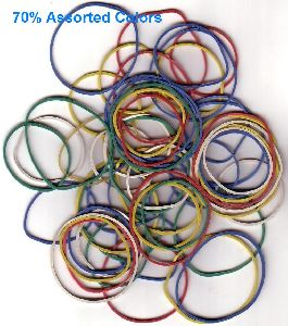 70% Assorted Color Rubber Bands