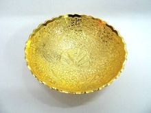 brass gold plated leaf style tray