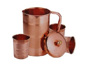Copper Water Tumblers Set