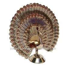 Dancing peacock brass decorative