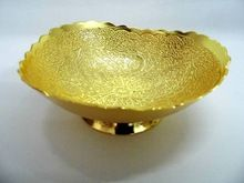 plated brass bowl
