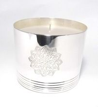 silver plated candle jar