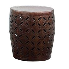 Embossed Drum Stool