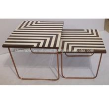 Wooden Painted Nested Table