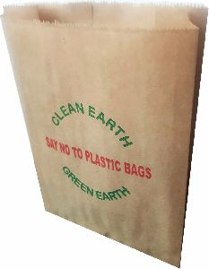 BROWN GUSSETED PAPER GROCERY BAGS