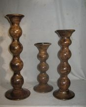 Antique Wood Candle Stand