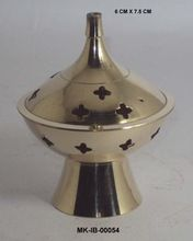 Decorative Brass Cone Burner