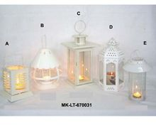 Metal White Finish Lanterns