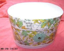 Printed Floral Design Tin Container