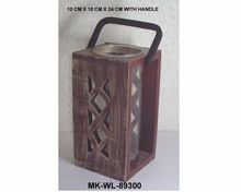 Wooden Antique Hurricane Lantern